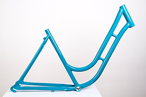 MIFA 28' Zoll Alu Damen Fahrrad Rahmen City Retro Classic Vintage Bike Frame Rh 52cm türkis blau