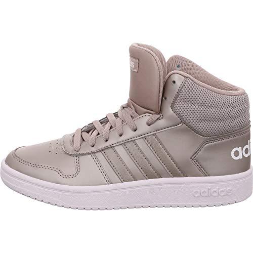 adidas Damen Hoops 2.0 Mid Basketballschuhe, Mehrfarbig (Metpla/Metpla/Ftwbla 000), 40 EU