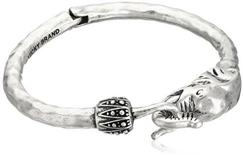 Lucky Brand Silver Elephant Cuff Bracelet, 2.38
