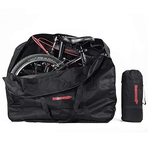 "G-raphy Fahrrad Transporttasche Klapprad Tasche Tragetasche Fahrrad Transport Abwahrungstasche für 20\"" Faltrad (Schwarz)"