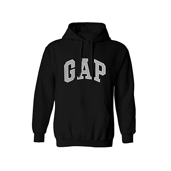 GAP Pullover Men's Fleece Hoodie Arch Logo Long Sleeve
