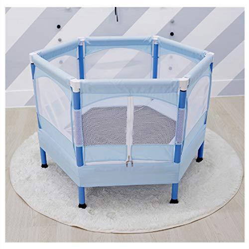 Kids Trampoline, Mini Indoor Trampoline met Safety Enclosure Netting en Jumping Mat Rain Cover, Leuke manier voor kinderen Junior Afvallen en Fitness krijgen