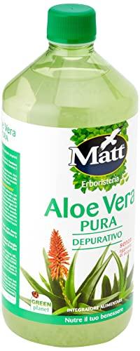 Matt Succo Depurativo di Aloe Vera da Bere, Puro al 100%, 1000ml