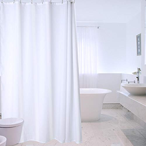 YuHengJin Duschvorhang Duschvorhang Reinweiß Trennvorhang Dressing Room Tuch Vorhang Hängering, 240 * 200cm