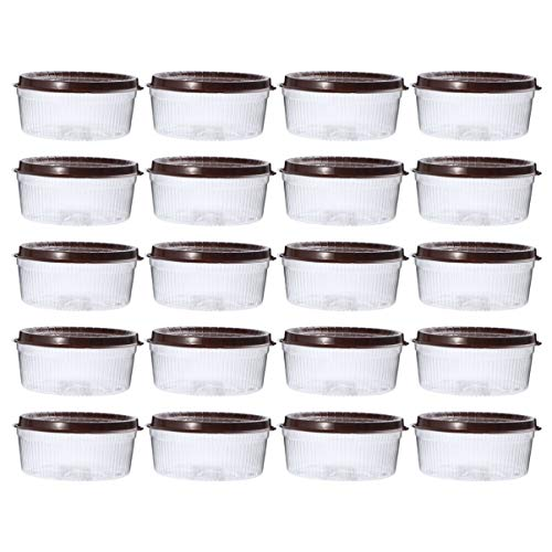 DOITOOL 20 contenedores de plástico transparentes redondos para tartas, cajas de panadería, cajas transparentes para tartas, contenedores de exhibición para galletas, pasteles, cupcakes