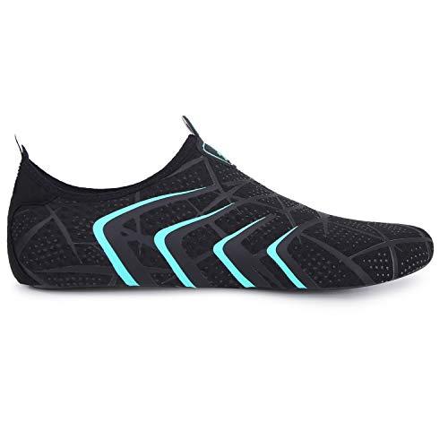 L-RUN Athletic Water Sports Shoes Womens Aqua Socks Black M(W:6.5-7.5)=EU37-38