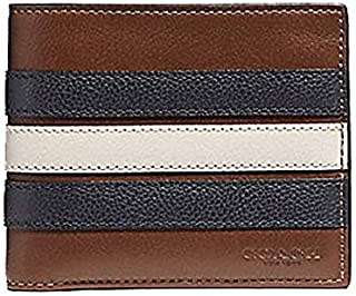 2-IN-1 WALLET WITH VARSITY STRIPE COACH F24649 for Men
