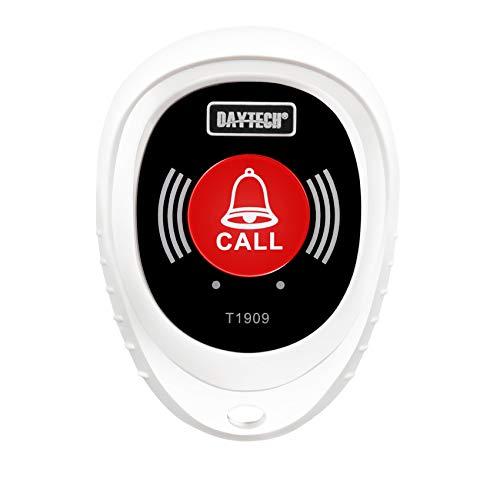 Pagador inalámbrico para cuidadores de enfermería, botón de emergencia, alarma de seguridad, alarma de pánico, alarma inalámbrica (solo 1 botón de llamada, no se puede utilizar si no hay receptor).