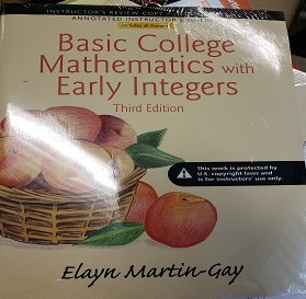 Basic College Mathematics with Early Integers 3rd Edition Teacher's Edition