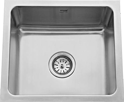 Silver LINE Single Bowl Kitchen Sink 18'x16'x9' Matt Finish Grade 304