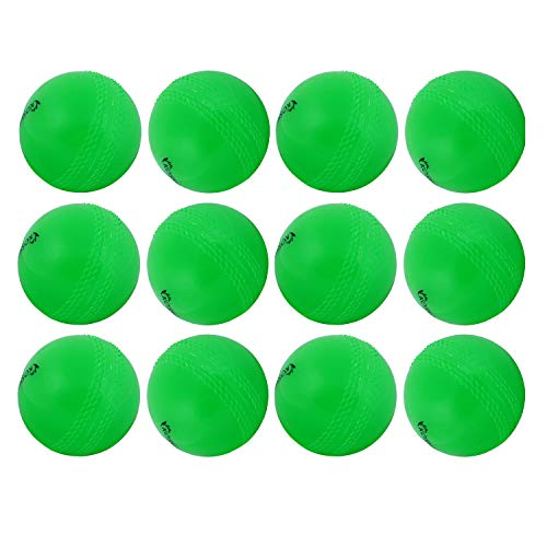 Kosma Set von 12Pc Cricket Ball Windball   Weiche Trainingsbälle   Indoor Training Skills Coaching Balls - Farbe: Grün