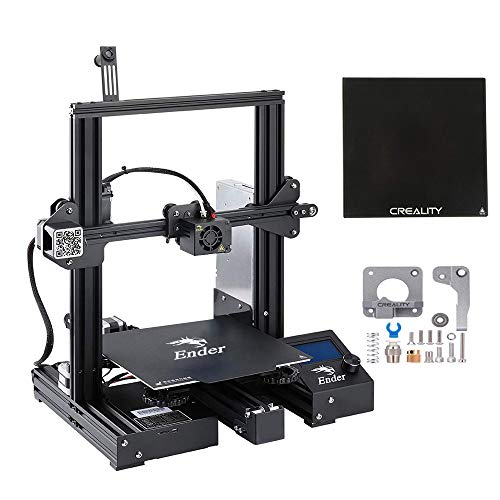 Creality 3D Printer Ender 3 Pro with Upgrade Cmagnet Build Surface Plate and UL Certified Power Supply,Extra Tempered Glass Plate and Metal Extruder