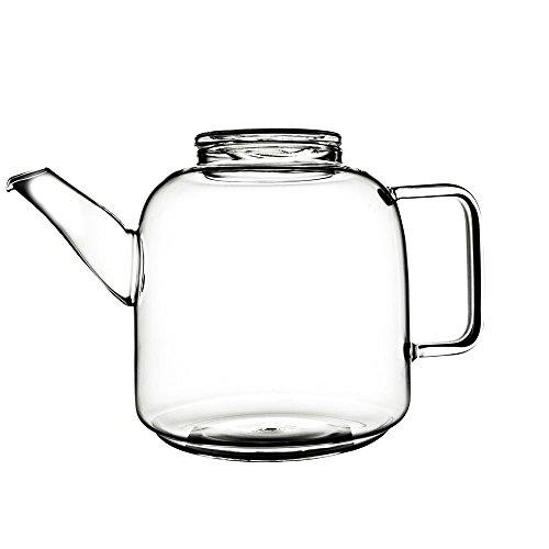 Teekanne Glasteekanne Glaskanne, Borosilikatglas, ca. 3 l, ca. 26 x 18 cm, spülmaschinengeeignet, mikrowellengeeignet