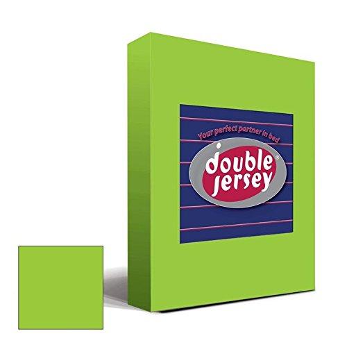 Double Jersey – Spannbettlaken 100% Baumwolle Jersey-Stretch bettlaken, Ultra Weich und Bügelfrei mit bis zu 30cm Stehghöhe, 160x200x30 Lime - 2