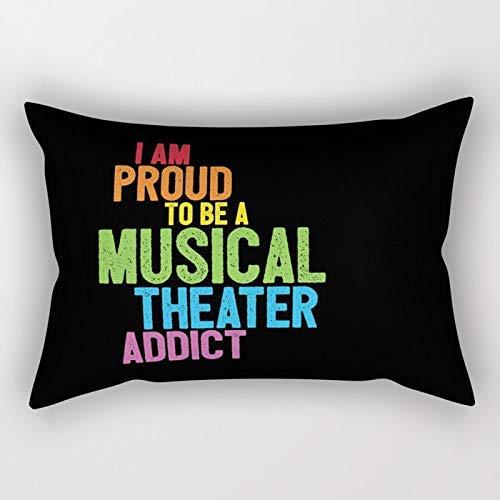 Yuanmeiju Musical Theater Pride Rectangular Pillowcase Cushion Cover 20x30 Inch