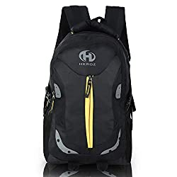 HEROZ Harbour Unisex Nylon 28 L Travel Laptop Backpack Water Resistant Slim Durable Fits Up to 17.3 Inch Laptop Notebook (153-ALL) (Black),A. H. Creation,0153