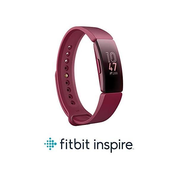 Fitbit Inspire HR, Pulsera de salud y actividad física con ritmo cardiaco, Blanco/Negro 6