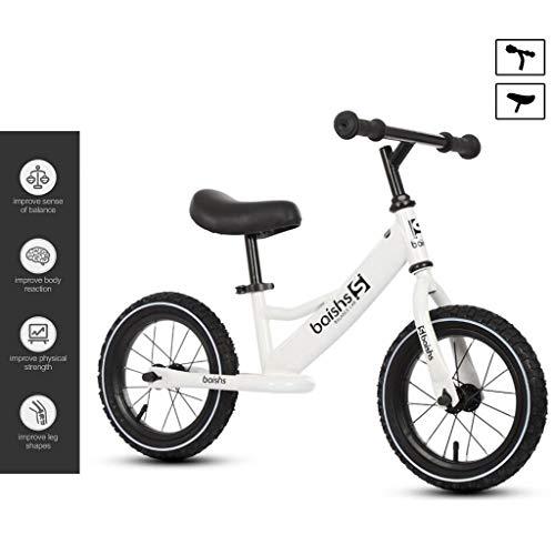 Bicicleta de equilibrio para niños de entre 2 y 6 años de edad, bicicleta de entrenamiento para niños pequeños con manillar ajustable/seat, acero de carbono ligero, sin pedal, balance.