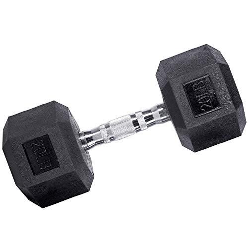 RJJBYY Hex Hantel 2,5-20 Kg, Hantel Sechskantgewichte rutschfest, Ergonomischer Griff, Cross Training Und Funktionstraining, Schwarz,3kg