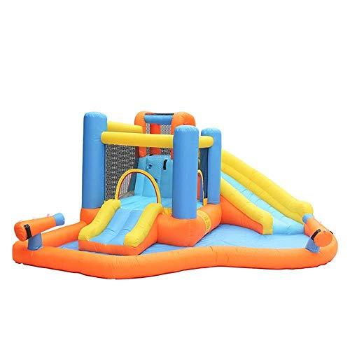 FHISD Gorila Inflable para niños Castillo Hinchable Trampolín pequeño Tobogán de Juguete para niños Equipo de Juego al Aire Libre Castillo Inflable Casa de Rebote Naranja (Color: Orange, Tamaño: 4