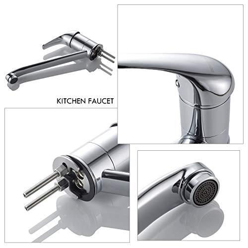 Auralum® Einhebel Spültisch Armatur Mischbatterie Wasserhahn Klasisch Design - 6