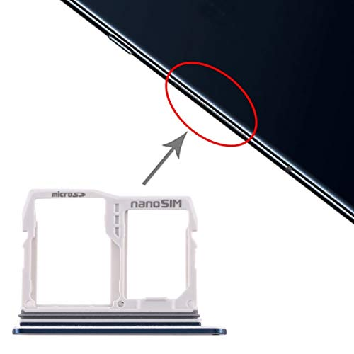 un known Teléfono móvil reemplazable Bandeja de Tarjeta SIM + Bandeja de Tarjeta Micro SD para LG V40 Thinq Accesorio Partes de máquina (Color : Blue)