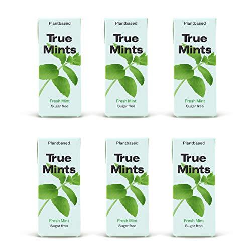 True Mints - 6er SET   FRISCHE MINZE   Pflanzliche und zuckerfreie Pastillen, 6 x 13g, 78 g