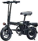 Bicicletas Eléctricas, Adultos de bicicleta eléctrica, Folda Blke 14 pulgadas 48V E-bici Con 6Ah-36Ah Batería de litio, Ciudad de bicicletas Velocidad máxima 25 km / h, freno de disco ,Bicicleta