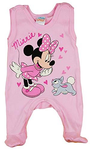Disney Baby Minnie Mouse Mädchen Strampler mit Fuß, Ärmellos und Langarm *viele Modelle* in Größe 56 62 68 74 Baumwolle auch als Baby Schlafanzug Farbe Modell 11, Größe 68