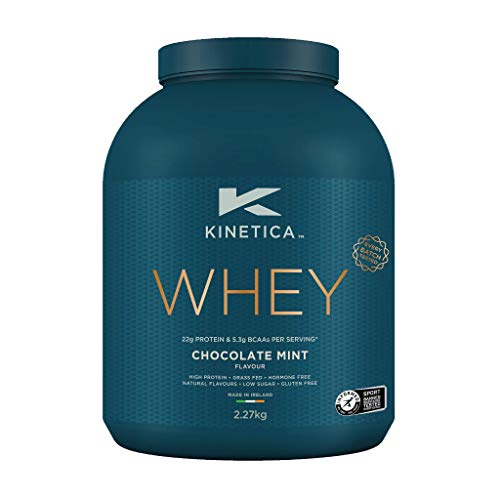 Kinetica Whey Protein Powder, 76 Servings, Chocolate Mint, 2.27kg