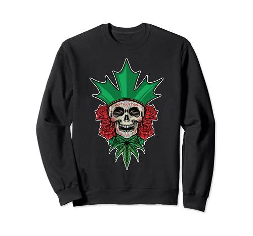 Crneo de azcar floral Dia De Los Muertos Da Mexicano de los Muertos Sudadera