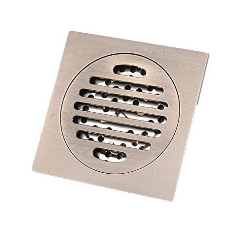 Badezimmer Bodenablauf, 5 Farben Messing Bodenablauf Deodorant Kern Balkon Dusche Toilette Bodenablauf, Bronze