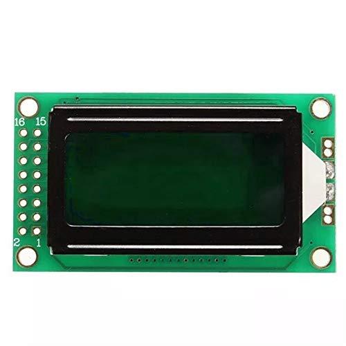 SUYING Multifuncional Módulo de Pantalla Compatible 0802 Módulo LCD de 8 * 2 Título Pantalla LED Verde luz de Fondo for Arduino, estrenar