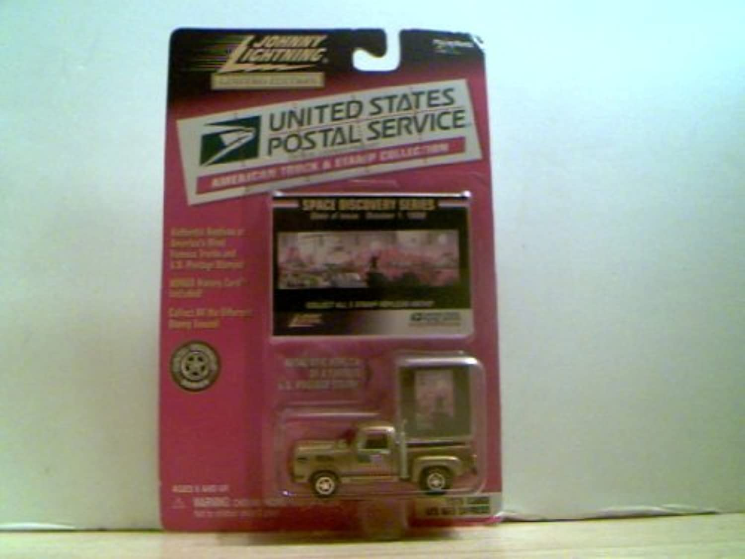 Johnny Lightning United States Postal Service American Truck & Stamp Collection - 1978 Dodge Ll'L rot Express by Johnny Lightning - Playing Mantis