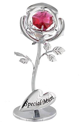GJ BOON Special Mum Flower con cristalli Swarovski Elements–Crystocraft celebrazione rosa rossa