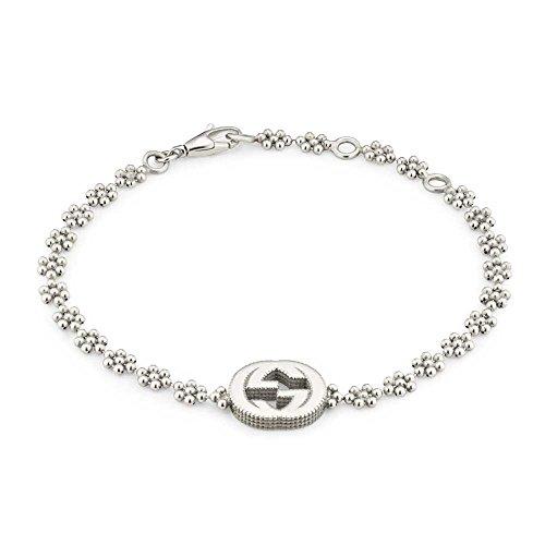 Gucci pulsera de plata entrelazados G yba48168700100u
