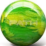 Pyramid Path Bowling Ball (Clear Swirl Lime Green/Yellow, 10 LB)