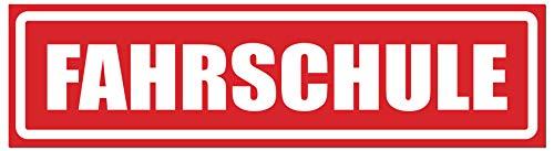 Smileyboard Kfz-Magnetschild - Auto-Schild für Fahrschule - rot- wetterfest - Magnetfolie - 30 x 8cm