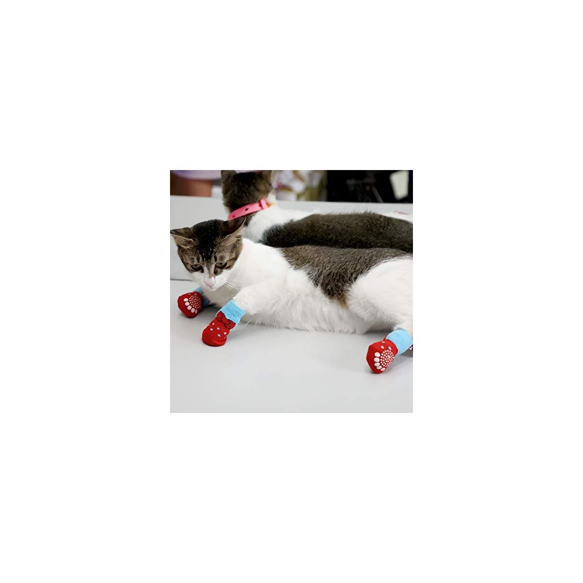 S Heiqlay Calzini per Cani Gatti Protezione Zampa per Cani Calze Cane Calzini Antiscivolo Cane Calzini per animali domestici Calzini per il controllo della trazione Adatta per cani di taglia 3 set