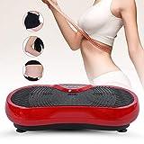 AYNEFY Vibrationsplatte,Fitness Platte Vibrationsplatte Ganzkörper Fitness Vibrationsplatte Sport vibrationsplatte mit Zugseil Und Fernbedienung(Rot)