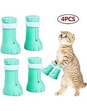 Protector de botas de zapatos antiarañazos para gatos de cubierta de uñas para mascotas Guantes Scratch Protector de pata de gato Botines de aseo para mascotas