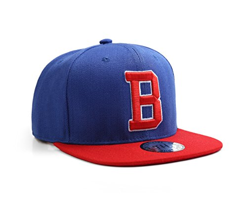 True Heads Casquette de baseball bleue avec initiale B
