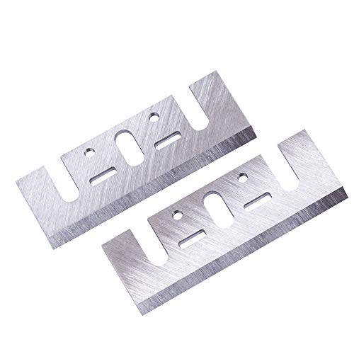 OXEMIZE 3-1/4 inch HSS Replacement Planer Blades for Makita N1900B, DW677, DW678K, DW678EK, DW680K, D26500, D26501, BOSCH 1594 Set of 2 Resharpenable Blades