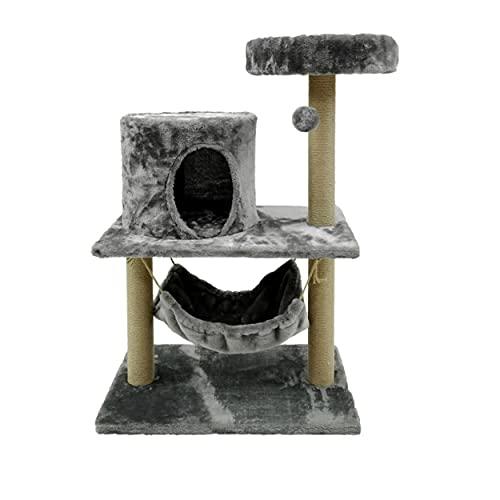 BRAVO Tiragraffi per gatti albero tiragraffi per gatti gioco e graffi piattaforma gioco con corda 60 x 40 x 90 cm