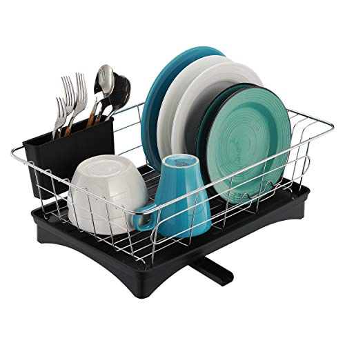 Dish Rack and Drainboard Set, 304 Stainless Steel Sink Dish...