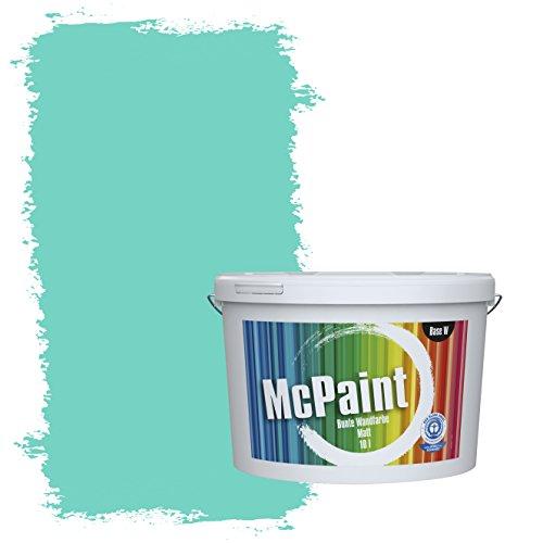 McPaint Bunte Wandfarbe Karibik - 10 Liter - Weitere Blaue Farbtöne Erhältlich - Weitere Größen Verfügbar