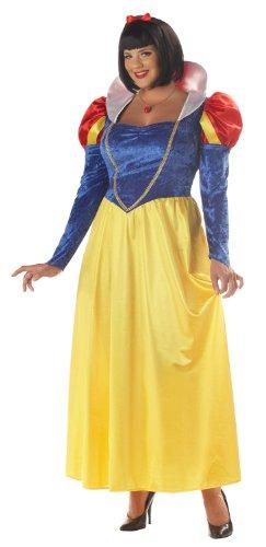 California Costumes Women's Plus-Size Snow White Plus, Blue/Yellow, 3X