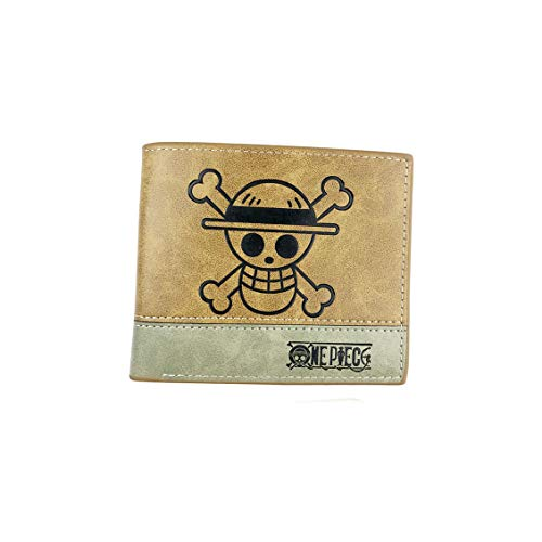 DOFE Anime PU Leather Wallet Card Holder Purse Card Organizer for Teenager and student. (One piece 1)