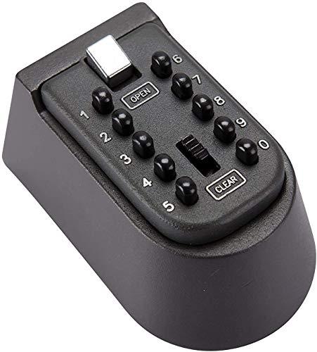 Caja de seguridad para llaves de 10 dígitos, para exteriores e interiores, con cubierta impermeable, para guardar llaves montadas en la pared para invitados, tets, agentes inmobiliarios, contratistas