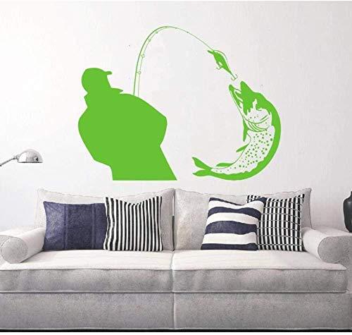 Wandaufkleber Big Fish Silhouettehome Dekoration Es kann Vinyl Kunst Dekoration Kinderzimmer Wandbild Weihnachtsgeschenk75X87Cm bewegen